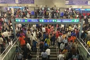 No exit from Delhi Metro's Rajiv Chowk station on New Year's Eve