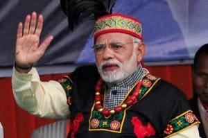 Prime Minister Narendra Modi launched BJP's poll campaign in Meghalaya addressing a rally in Shillong.