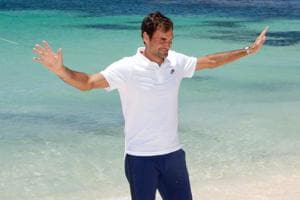 Sun, sand and Tennis: Roger Federer has fun in Western Australia