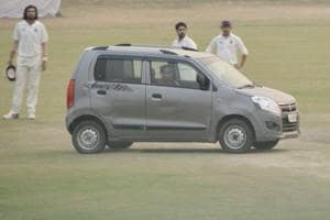 A car driven in the middle of a pitch during a Ranji Trophy game between Uttar Pradesh and Delhi at Palam highlighted the apathy of the Board of Control for Cricket in India towards domestic cricket.