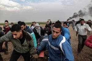 1 Gazan killed, 50 wounded in border clash with Israel forces over...