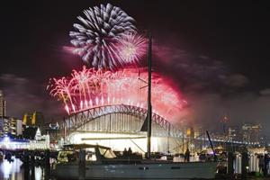 Rainbow themed fireworks in Sydney and laser show in Dubai: How are...