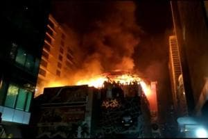The fire in Kamala Mills on Friday that took away 14 lives.