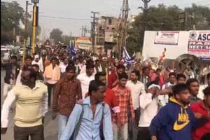Dalits up in arms about removal of Baba Sab Ambedkar statue