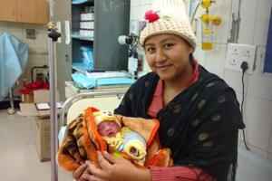 Dhanmati gave birth to her daughter on Jan 1, thinks Chandigarh, where she was brought up, is safer than Delhi for children.