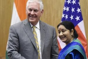 External affairs minister Sushma Swaraj and defence minister Nirmala Sitharaman will meet for a day with their counterparts in the US, secretary of state Rex Tillerson and defence secretary James Mattis.