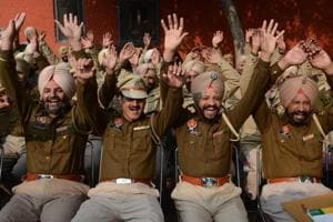In pics | When cops dance and laugh to ring in the new year!