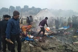 Magh Mela: Tent gutted, but pilgrims safe
