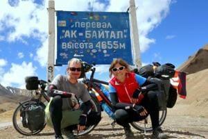 German couple on world cycle tour reaches Varanasi