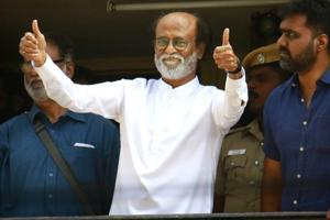 Tamil superstar Rajinikanth,  who has announced his entry into politics  on December 31, called on DMK chief M  Karunanidhi on Wednesday