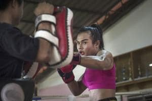 Photos: Thai transgender boxer sets sights on French Muay Thai title