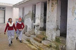 The school only has six toilets to cater to a strength of 450 students.