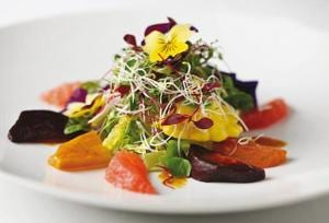 Quilon salad at Quilon in London, where chef Sriram Aylur cooks excellent food