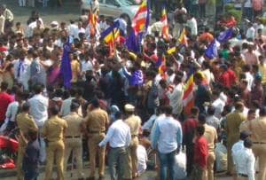 Wednesday's Maharashtra bandh saw Dalits protesting on Mumbai's streets in large numbers.