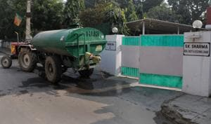 With supply hit, residents sourced water from private tankers to meet their daily needs.