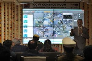The CCTV system has been set by Municipal Corporation of Gurugram (MCG) at the cost of Rs3.37 crore under the city monitoring and surveillance plan.