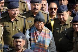 Lalu Prasad arrives at special CBI court in a fodder scam case, in Ranchi.