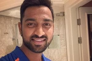 Krunal Pandya played a breezy innings of 44 n.o. from 26 balls to bolster Baroda's score in their Syed Mushtaq Ali T20 League zonal opener against Mumbai on Sunday.