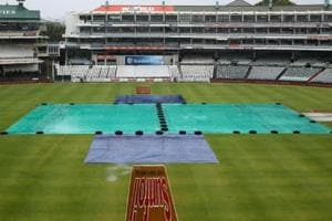 Persistent rain washed out the entire third day of the first Test between South Africa and India in Cape Town.