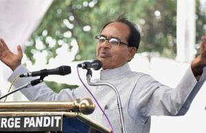 Madhya Pradesh chief minister Shivraj Singh Chouhan during MP Foundation Day programme in Bhopal.