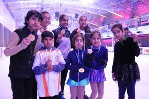 Gurgaon emerged as the winner of the state ice skating championship, winning 12 gold medals. Faridabad and Sonipat bagged six golds each, while Hissar won three.