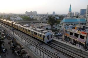 The Delhi Metro Rail Corporation had suggested two routes for a Metro in Gurgaon—between Huda City Centre (HCC) and Dwarka Sector 21, and between HCC and Gurgaon railway station.