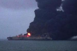 Explosion fears as oil tanker burns off coast of China, no signs of...