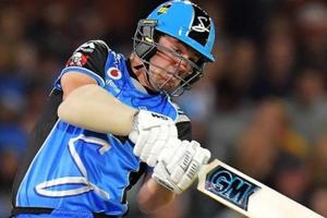 Travis Head in action during Adelaide Strikers' Big Bash League match against Melbourne Stars on Tuesday.