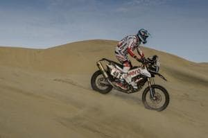 CS Santosh slipped down in the overall rankings on Day 3 of the Dakar Rally in San Juan De Marcona, Peru.