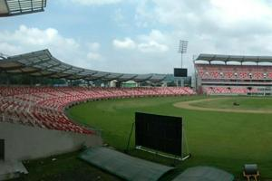 A panoramic view of the state-of-the-art sporting arena in Dehradun.