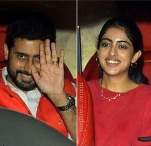 Navya Nanda, mamu Abhishek Bachchan, Anil Kapoor celebrate Farah...