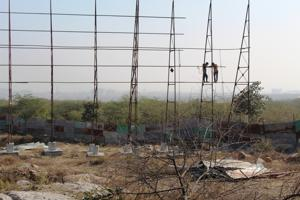 The petitioner claimed that the builder has started construction on the 52-acre plot at Sarai Khawaja in Faridabad.