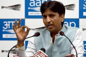 AAP leader Kumar Vishwas has visited the state only four times since he was entrusted with the job of overseeing the party affairs in the state in May 2017.