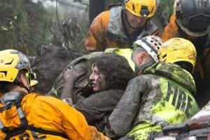 Photos: California mudslide leaves at least 13 dead in region hit by...