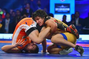 Haryana Hammers beat Veer Marathas in Pro Wrestling League