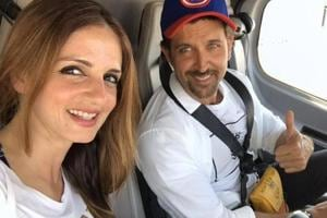 Sussanne Khan is very much a part of Hrithik Roshan birthday party....