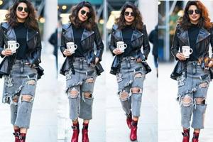 Priyanka Chopra's denims are anything but basic. Is it jeans or a...