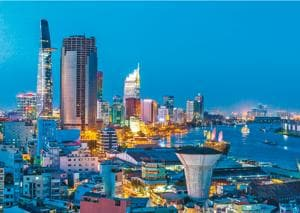 The fancy parts of Saigon can seem more prosperous than Mumbai or Delhi