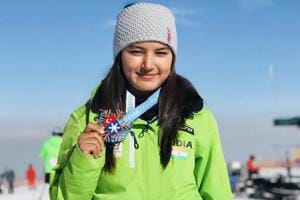 Aanchal Thakur braves injury, becomes 1st Indian to win international skiing medal