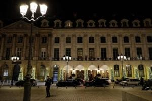 The Ritz luxury hotel in Paris on January 10, 2018, after armed robbers made off with millions of euros worth of jewellery.