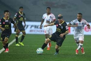 Hat-trick hero Iain Hume guided Kerala Blasters FC to a 3-1 victory...