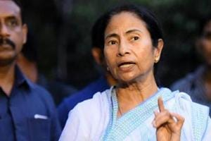 West Bengal chief minister Mamata Banerjee after meeting Delhi CM Arvind Kejriwal at his residence in New Delhi on May 17, 2017.