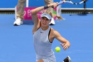 Eugenie Bouchard gets first win of the year at Kooyong Classic tennis