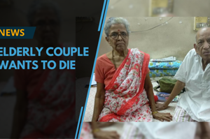 The couple, Iravati Lavate, 79, and her husband Narayan, 86, fear that...