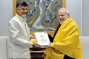Naidu meets Modi, urges Centre to fulfil commitments made to Andhra