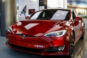 A mere 198 electric cars were registered from April 2016 to December 2017, including one high-end Tesla car (in photo), bought by a senior executive in south Mumbai.