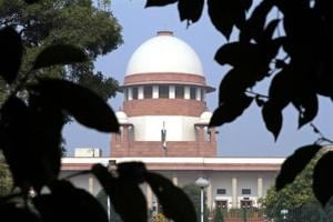 A view of the Supreme Court building is seen in New Delhi.