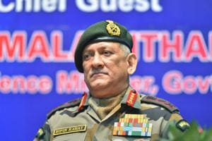 Army chief General Bipin Rawat at the inauguration of Defence Research and Development Organisation (DRDO) workshop, in New Delhi on Friday.