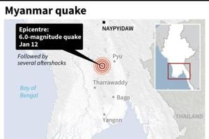 Several quakes rattle Myanmar's largest city, no damage seen