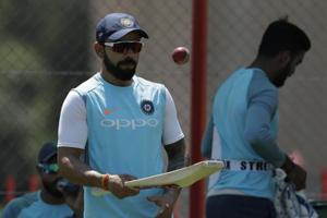 India adopted an unusual training method at the SuperSport Park in the...